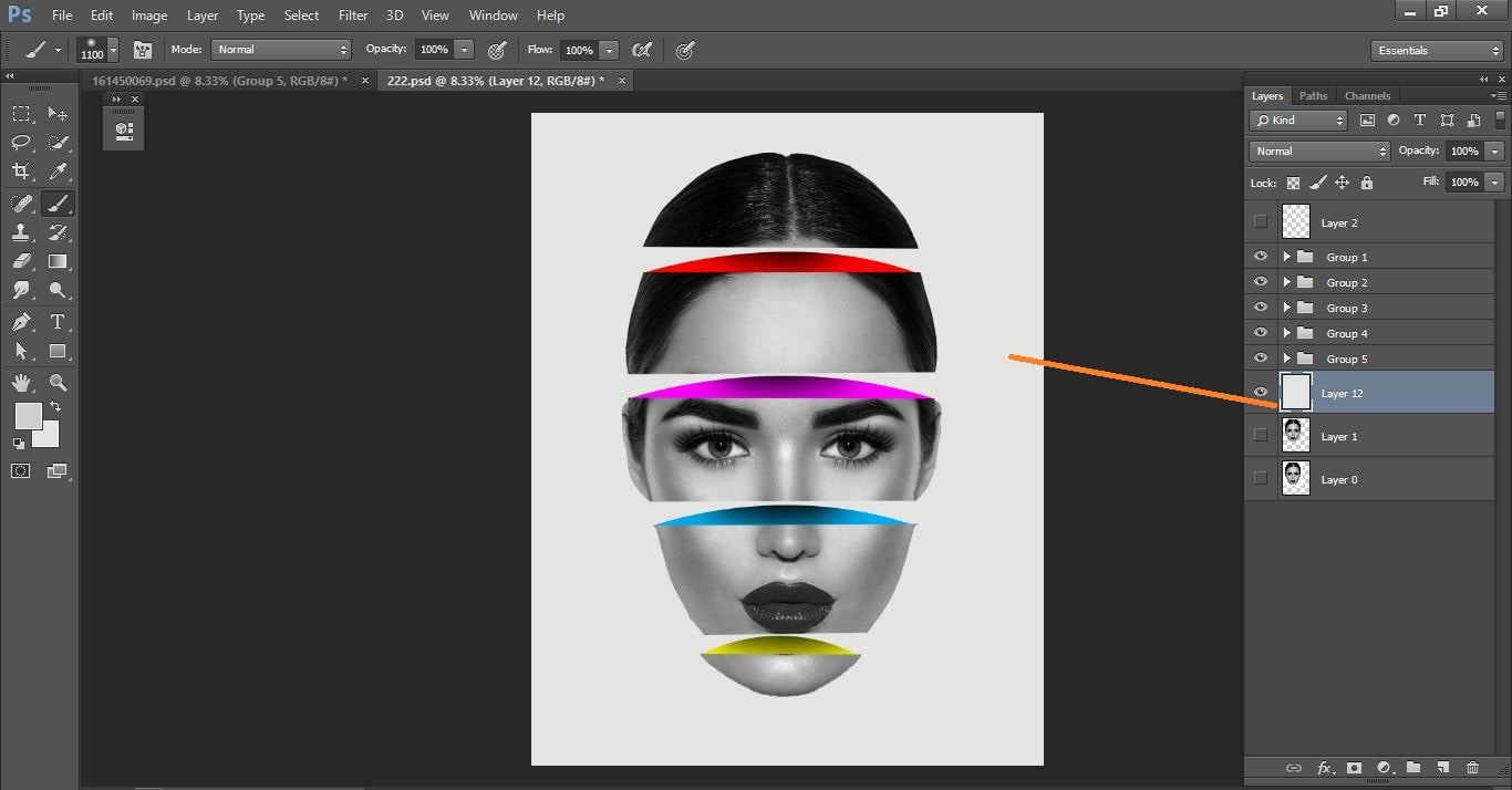 How to create sliced head - Photo Manipulation in Photoshop