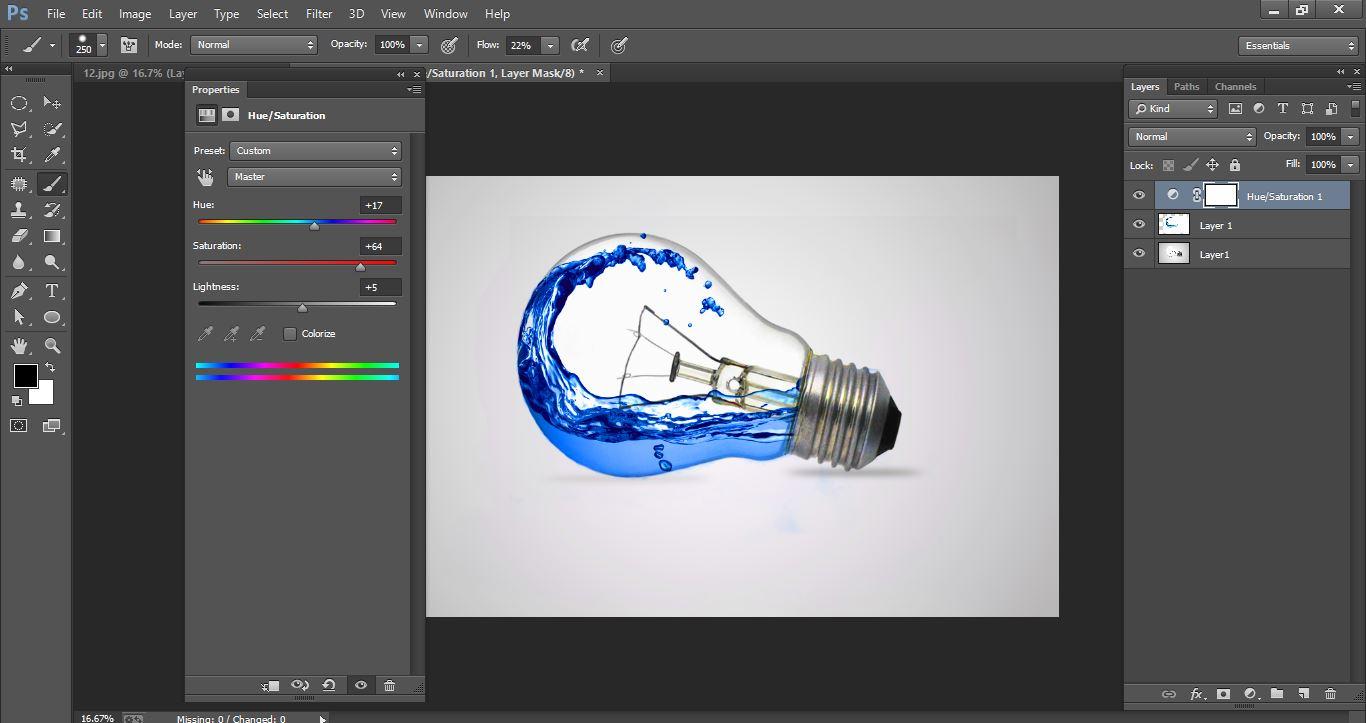 How to create Water Photo manipulation Bulbin Photoshop