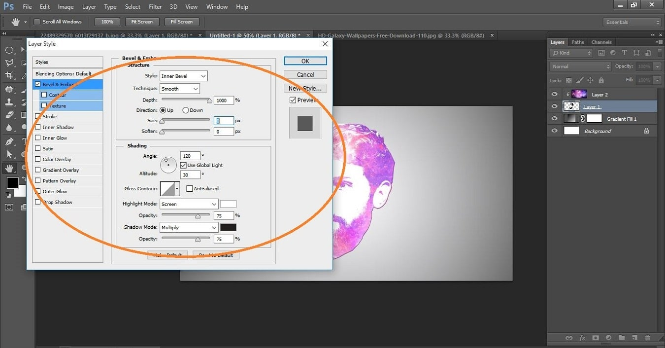How to create Galaxy Logo Design from Face in Photoshop