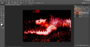 How to create Burning effect on a Photo in adobe Photoshop