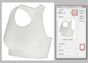 How to change the black color to white color in adobe Photoshop