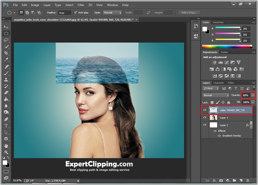 how to create clipping path in photoshop